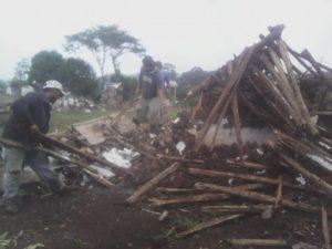 Foto: Desalojo en mayo dle 2015
