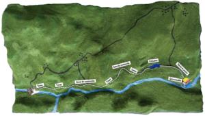 Hidroeléctrica Agua Zarca se conforma, además por una toma de agua derivada del Río Gualcarque, mediante canales de conducción que transportarán el agua hacia las turbinas para la generación de energía