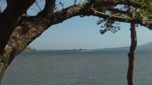 Vista desde Playa Blanca, Zacate Grande