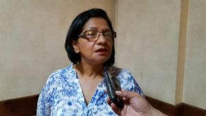 María Luisa Regalado, coordinadora de la Colectiva de Mujeres Hondureñas (CODEMUH).