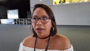 Mirtha Gutiérrez, delegada de la carrera de Sociología y lideresa del Movimiento Estudiantil Universitario (MEU)