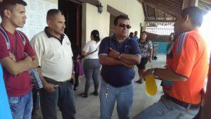 El alcalde de Pespire, Ramón Green, escuchó a los y las defensoras de la REDEHSUR,