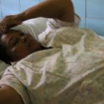 Hilda Lezama resultó con graves heridas en sus piernas