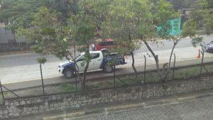 Una patrulla custodiaba los alrededores de la CSJ