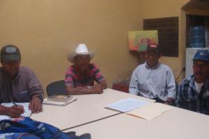 Miembros del Consejo Indígena Lencas del municipio de Santa María la Paz y San Pedro de Tutule
