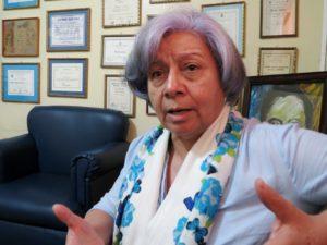 Bertha Oliva, coordinadora del Comité de Familiares de Detenidos Desaparecidos en Honduras (Cofadeh).